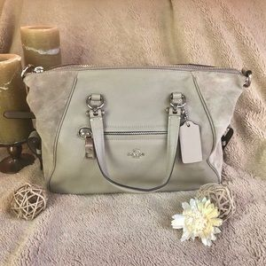 NWOT Coach Primrose Satchel in Taupe Mixed Leather